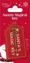 """Children's Novelty Silver 2.25"""" Santa's Magic Key - For Houses Without A Chimney"""