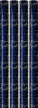 16m Christmas Gift Wrapping Paper 4x4m Roll Cutting Guide - Midnight Blue Gold