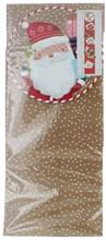 Set Of 2 Cute Christmas Card Holders - Santa & Friends