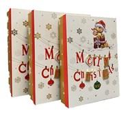 Set of 3 Shirt Christmas Oblong Nested Gift Boxes 3D Attachment Cute Santa Bear