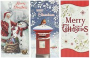 Pack Of 3 Christmas Money Wallet Gift Cards & Envelopes - Traditional Pack A