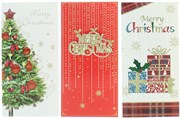 Pack Of 3 Christmas Money Wallet Gift Cards & Envelopes - Traditional Pack B