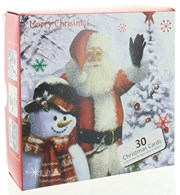 Bumper Box Of 30 Traditional Christmas Cards - 6 Scenic Designs Per Pack
