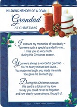 "Loving Memory Christmas Graveside Memorial Card - Dear Grandad 6"" x 4"""