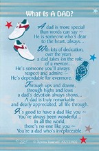 "Xpress Yourself Mini Keepsake Card 3.25"" x 2"" - What Is A Dad?"