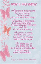 "Xpress Yourself Mini Keepsake Card 3.25"" x 2"" - What Is A Grandma?"