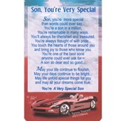 "Xpress Yourself Mini Keepsake Card 3.25"" x 2"" - Son Your Very Special"