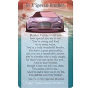 "Xpress Yourself Mini Keepsake Card 3.25"" x 2"" - To A Special Brother"