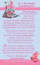 "Xpress Yourself Mini Keepsake Card 3.25"" x 2"" - To A Wonderful Granddaughter"