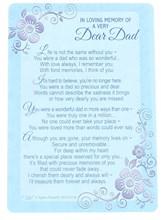 "Loving Memory Graveside Memorial Card - Very Dear Dad 6"" x 4"""