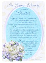 "Loving Memory Open Graveside Memorial Card - Brother 6 x 4"""