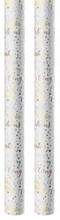 3m Congratulations Metallic Gift Wrapping Paper Roll - 2 x 1.5m - Spots & Hearts