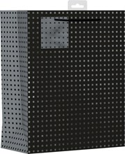 "2 x Large Male Gift Bags - Black With Silver Squares 13"" x 10.25"""