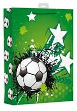 "Extra Large Male Gift Bag - Modern Green Football, Paint Blobs & Stars 18"" x 13"""