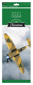 2021 Slim Month To View Spiral Bound Travel Photo Wall Calendar - Aviation
