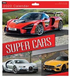 2020 Square Month To View Photo Wall Calendar - Fast Sports Super Cars