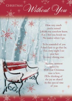 "Loving Memory Christmas Graveside Memorial Card - Xmas Without You 6.25"" x 4.25"""