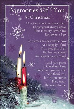 "Loving Memory Christmas Graveside Memorial Card - Memories Of You 6.25"" x 4.25"""
