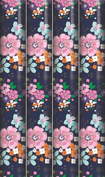 12m Female Mixed Gift Wrapping Paper - 4 x 3m Roll's - Modern Bright Flowers