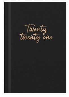 2021 Small Pocket Week To View Hardback Fashion Diary - Black With Gold Foil