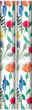 6m Female Floral Gift Wrapping Paper Roll - 2 x 3m - Bright Watercolour Flowers