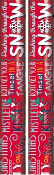 10m (2x5) Christmas Gift Wrapping Paper - Red with Fun Text