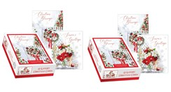 2 x Box Of 24 Scenic Luxury Christmas Cards - 2 Designs Per Pack - House & Gifts