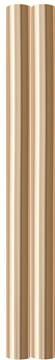 8m Foil Effect Gift Wrapping Paper with Cutting Guide - 2x4m Roll's - Plain Gold
