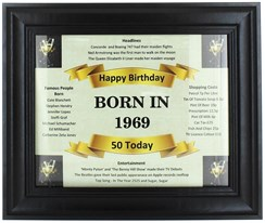 2020 50 Today Happy Birthday Print & Black Photo Frame - 1970 Was A Special Year