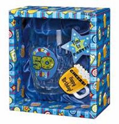 Simon Elvin Age 60 Today Male Beer Tankard & Blue Gift Box - 60th Birthday Gift