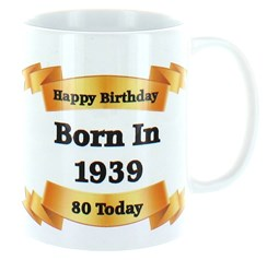 2020 80th Birthday White 11oz Ceramic Mug & Gift Box - 1940 Was A Special Year