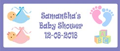 Baby Shower Personalised Landscape Party Banner - Add Your Own Message - Unisex