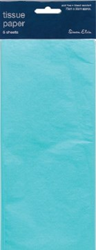 Pack Of 5 Plain Baby Blue Tissue Paper Sheets 75cm x 50cm - Perfect Gift Wrap