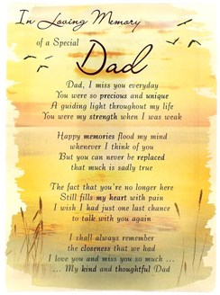 "Loving Memory Open Graveside Memorial Card - Special Dad 6.5"" x 4.75"""
