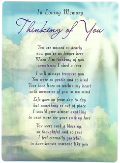 "Loving Memory Open Graveside Memorial Card - Thinking Of You 6.5"" x 4.75"""