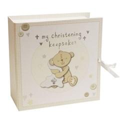 Button Corner Baby Christening Keepsake Box & Drawers - Christening