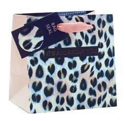 "Mini Small Female Gift Bag - Animal Print It's All about You 5.25"" x 5.25"""