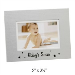 "Juliana Aluminium Baby's Scan Photo Frame 5.25"" x 6.75"" - Mum To Be, Baby Shower"