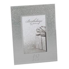 "Juliana 18th Birthday Glittered Mirrored Glass Photo Frame 8.5"" x 7"""