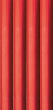 8m Metallic Foil Effect Gift Wrapping Paper - 4 x 2m Roll's - Plain Red