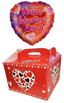 "Heart 18"" I Love You Foil Helium Balloon In Box - Happy Valentine's Day"