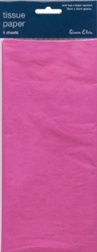 Pack Of 5 Plain Hot Pink Tissue Paper Sheets 75cm x 50cm - Perfect Gift Wrap