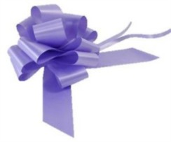 Large Lilac Pull Bow - Ideal As Gift Wrap, Florist, Wedding Bow