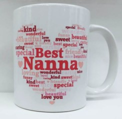 Best Nanna Heart White 11oz Mug - Birthday, Mother's Day, Xmas