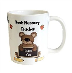 Thank You Best Nursery Teacher White 11oz Mug - Thank You Teacher Gift With Box