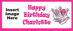 Personalised Landscape Party Banner - Pink Prosecco - Add Your Own Photo & Text