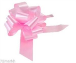 Large Baby Pink Pull Bow - Ideal As Gift Wrap, Florist, Wedding Bow