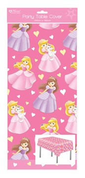 1 Oblong Plastic Children's Party Tablecloth Table Cover 120x180 - Girl Princess