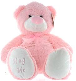 "16"" Pink Jenny Baby Girl Teddy Bear Soft Toy Plush Wearing Sheer Pink Ribbon"