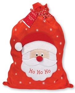 "Giant Children's Felt Christmas Santa Sack - Santa Claus Ho Ho Ho 30"" x 18.5"""